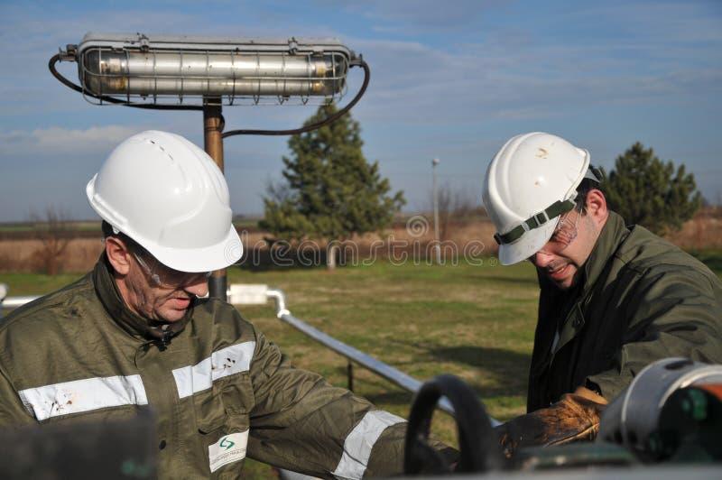 Operatore di gas immagine stock