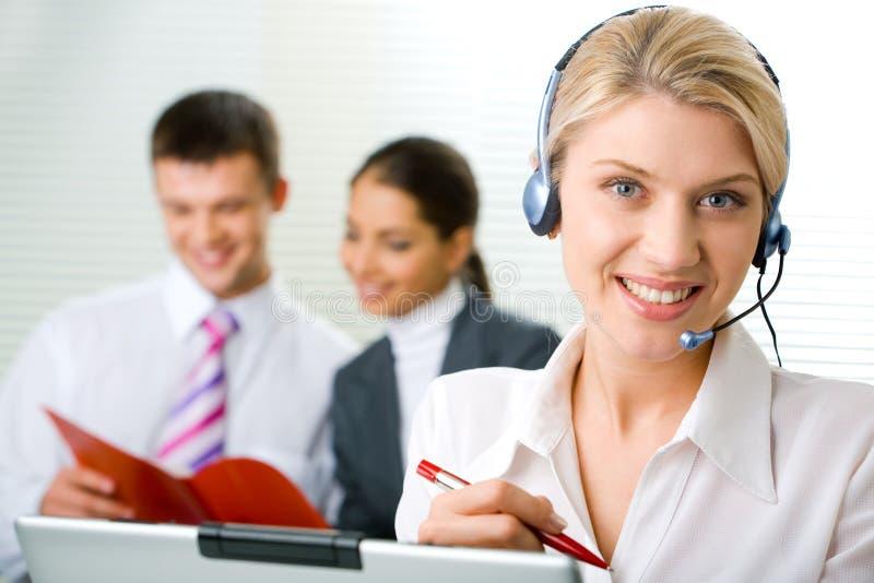 Download Operatore rappresentativo immagine stock. Immagine di helpline - 3885313