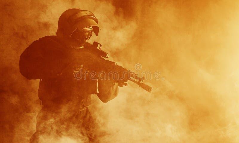 Operatore russo delle forze speciali immagine stock