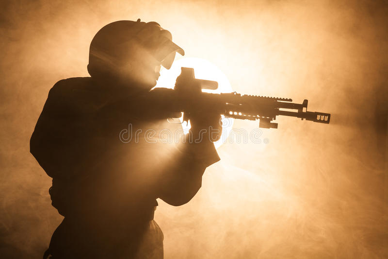 Operatore russo delle forze speciali fotografia stock