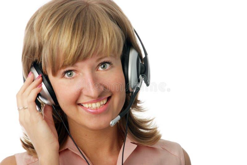 Operatore sorridente immagine stock libera da diritti