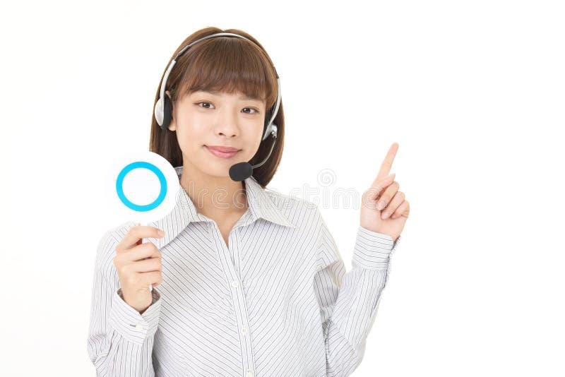 Operatore sorridente della call center fotografie stock