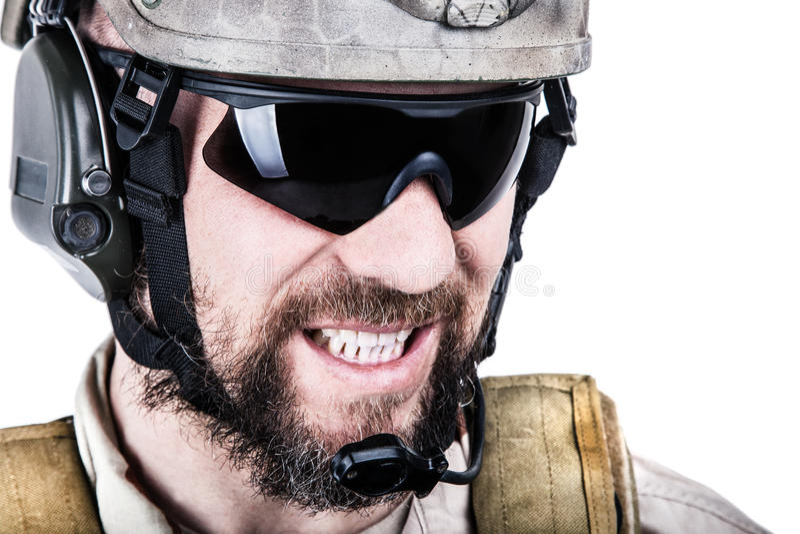 Operatore speciale di guerra fotografie stock