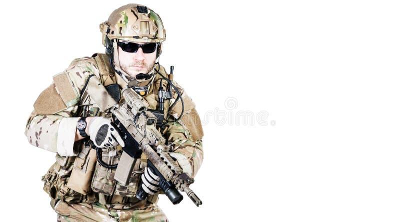 Operatore speciale di guerra fotografia stock