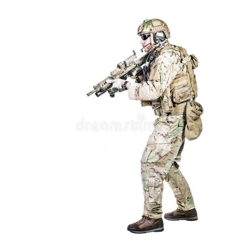 Operatore speciale di guerra immagine stock