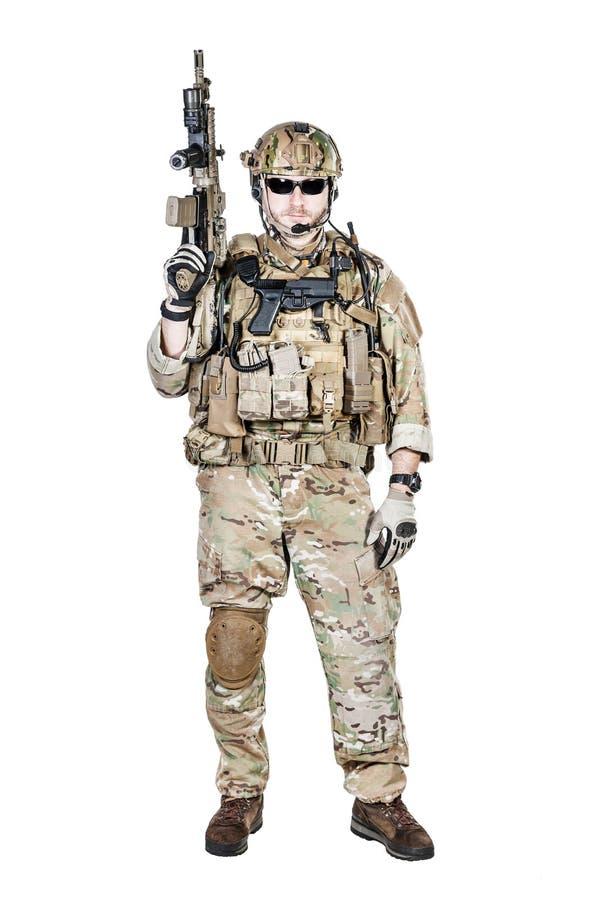 Operatore speciale di guerra fotografia stock libera da diritti
