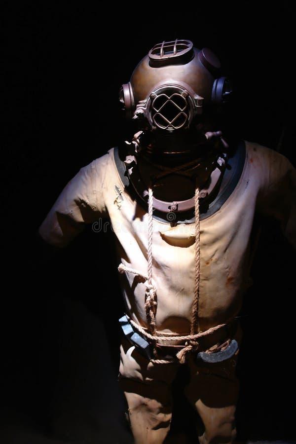 Operatore subacqueo dell'annata fotografia stock