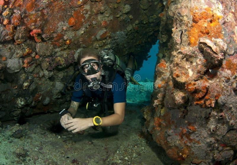 Operatore subacqueo di scuba immagini stock