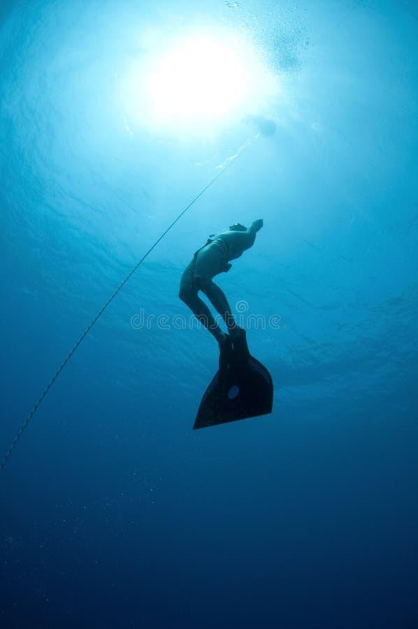 Operatore subacqueo libero fotografia stock