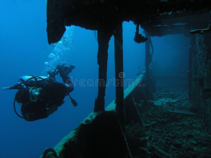Operatore subacqueo a Thistlegorm immagini stock libere da diritti