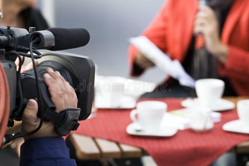 Operatore, televisione e industria cinematografica della macchina fotografica fotografie stock