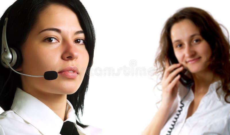 Operatori della call center immagini stock