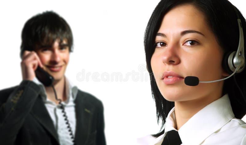 Operatori di servizio d'informazione immagine stock libera da diritti