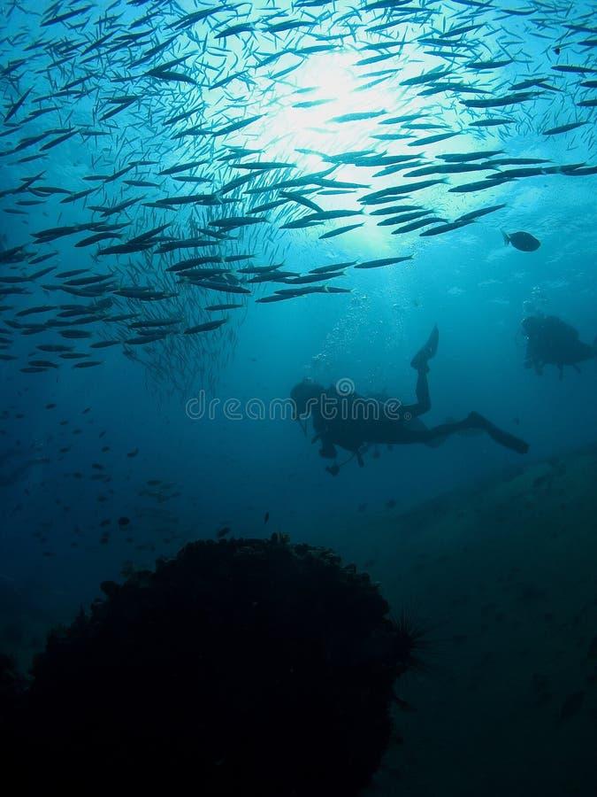 Operatori subacquei fotografia stock