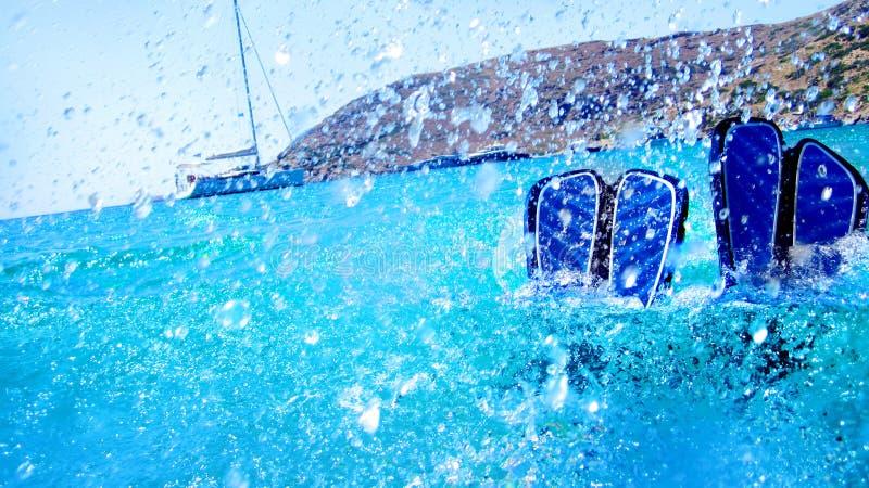 Operatori subacquei in acqua fotografia stock libera da diritti
