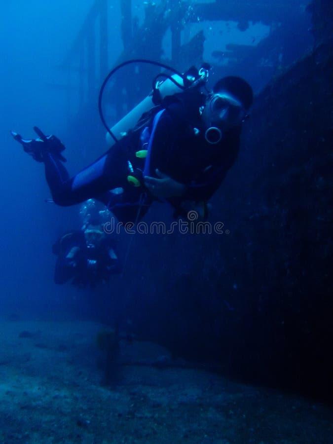Operatori subacquei del naufragio fotografie stock