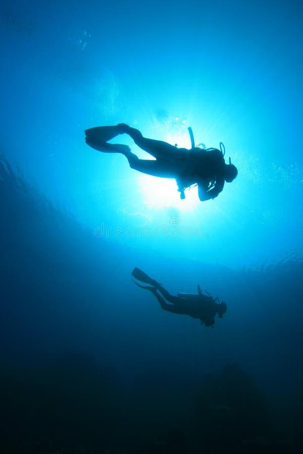 Operatori subacquei di scuba fotografie stock
