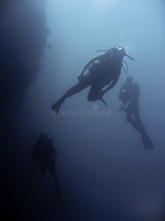 Operatori subacquei di Sipadan fotografia stock libera da diritti