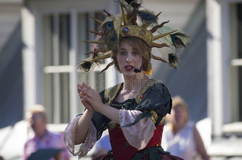 Operazanger in een Barok kostuum royalty-vrije stock fotografie