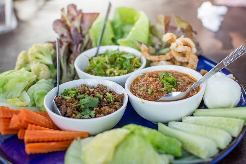 Opere del ` di Hors d di alimento tailandese tradizionale nordico immagini stock libere da diritti