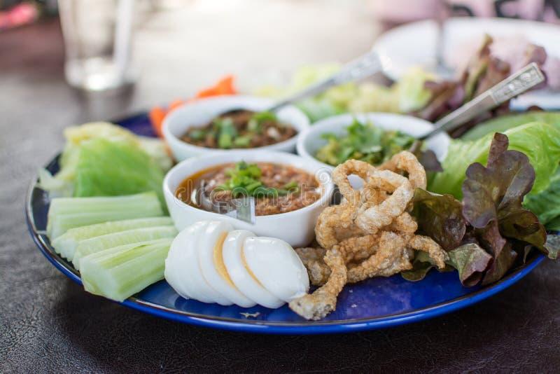 Opere del ` di Hors d di alimento tailandese tradizionale nordico immagine stock