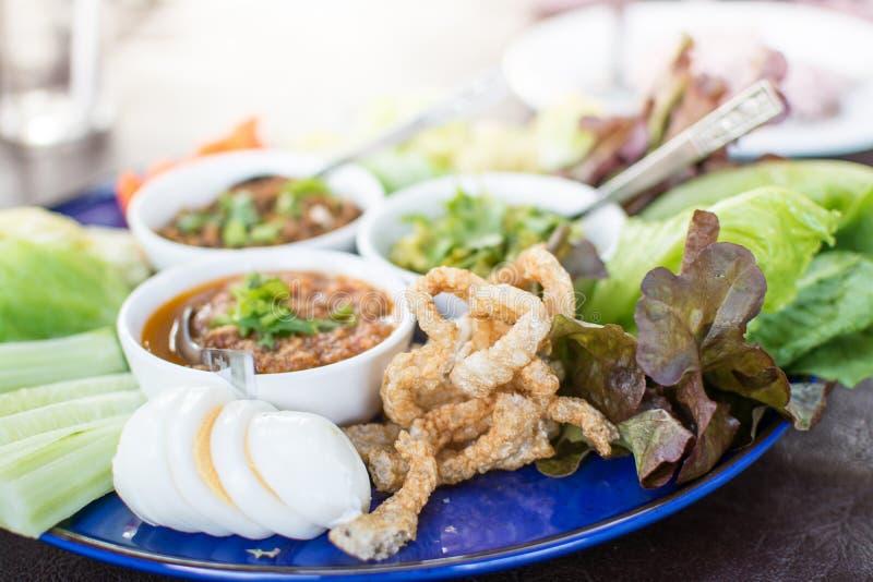 Opere del ` di Hors d di alimento tailandese tradizionale nordico fotografie stock libere da diritti