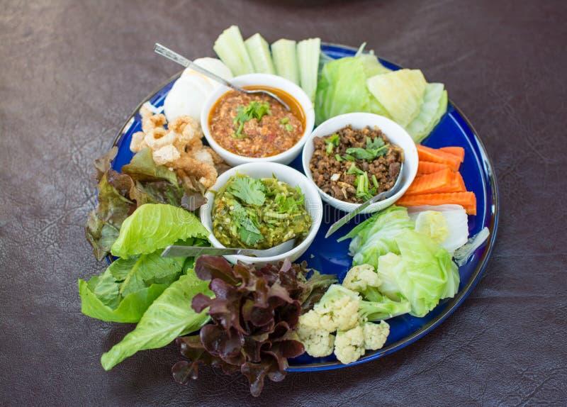 Opere del ` di Hors d di alimento tailandese tradizionale nordico fotografie stock