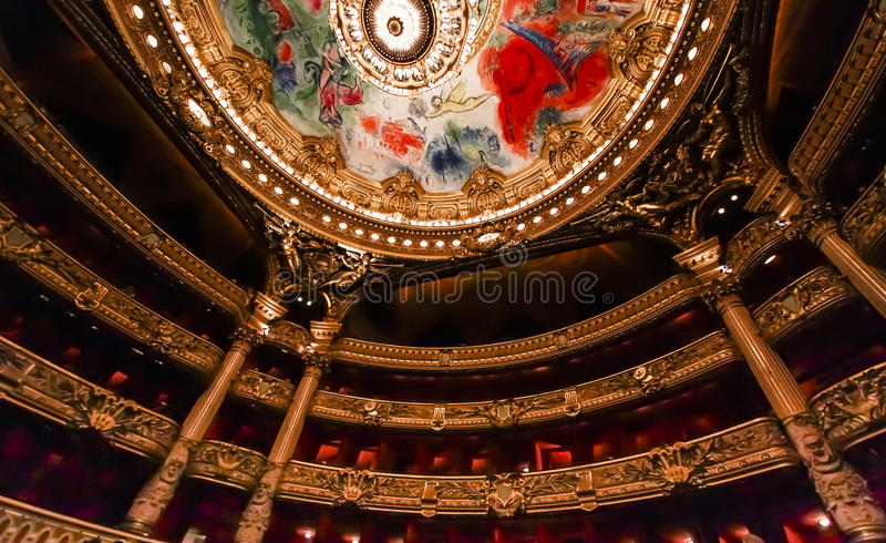 Operende Paris, Palais Garnier frankreich lizenzfreies stockfoto