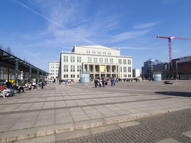 Operngebäude in Leipzig, Deutschland lizenzfreies stockfoto