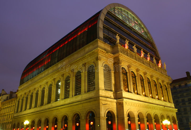 Opernhaus, Lyon, Frankreich lizenzfreies stockbild
