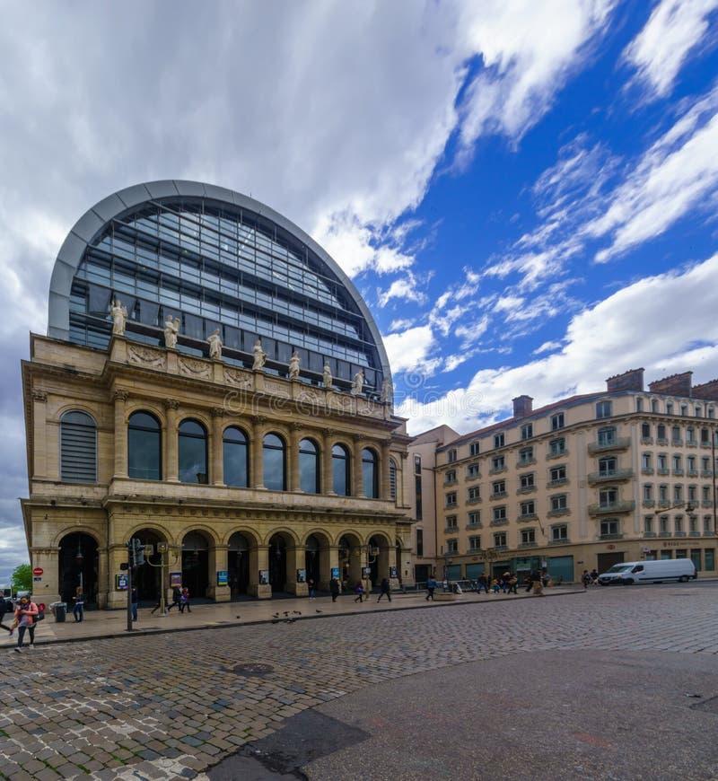 Opernhaus, in Lyon lizenzfreies stockfoto