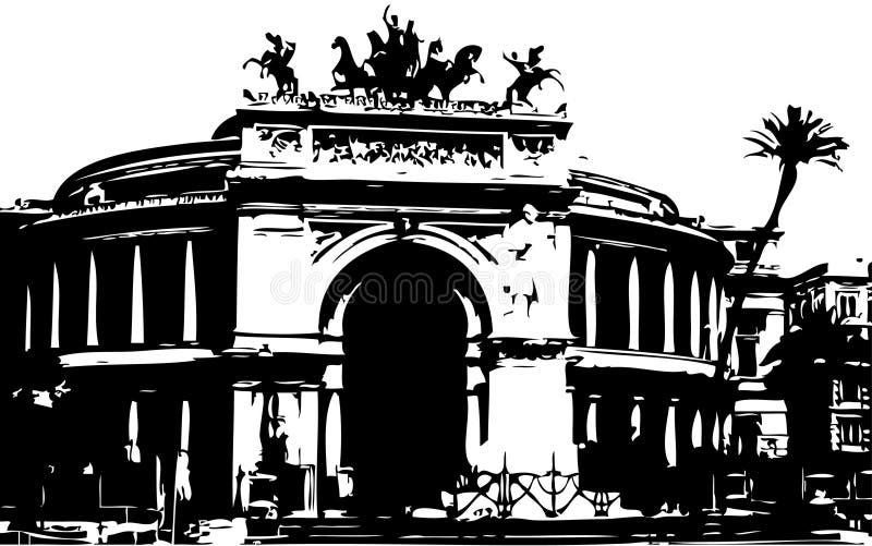 Opernhaus in Palermo lizenzfreie abbildung