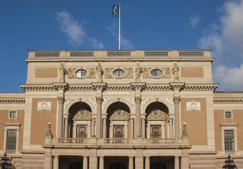 Opernhaus Stockholm stockbild