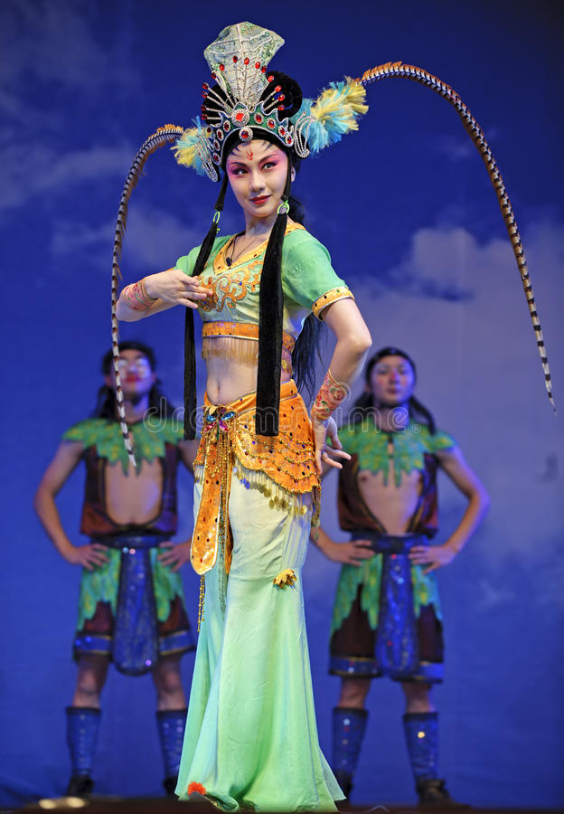 Opery chińska aktorka fotografia stock