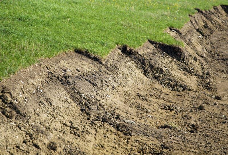 Opgegraven aarde royalty-vrije stock afbeelding