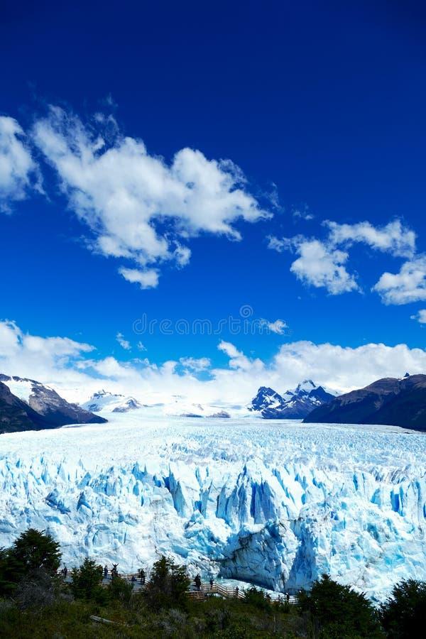 Opgeheven mening van Perito Moreno Glacier royalty-vrije stock afbeelding