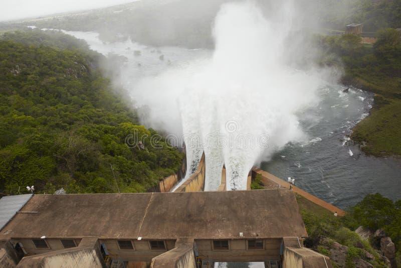 Opgeheven mening van Pongolapoort-dam Zuid-Afrika stock foto's