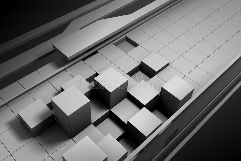 Opgeheven Vierkanten vector illustratie