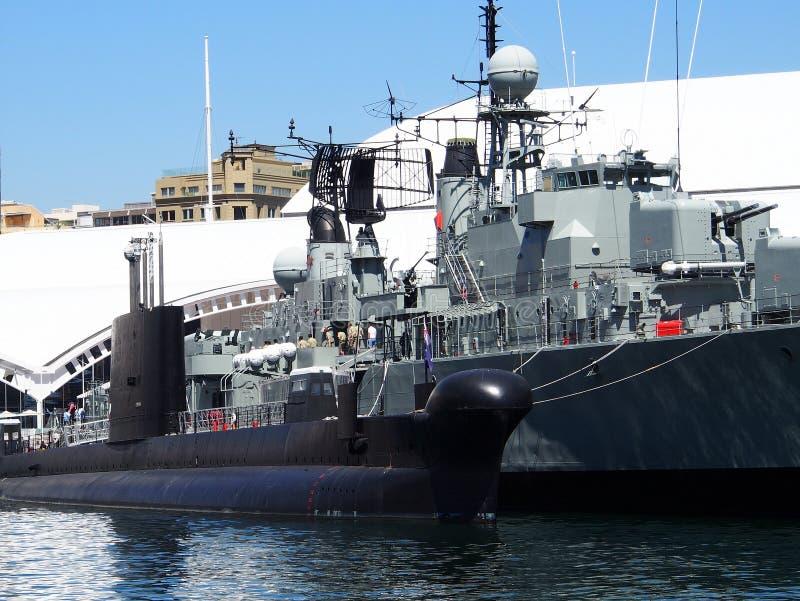 Opgelegde Oorlogsschepen stock afbeelding