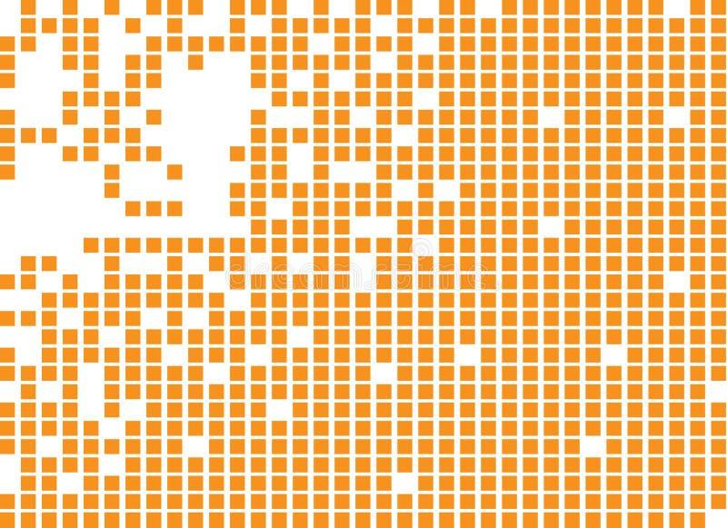 Opgelost gevuld vierkant gestippeld vectorpictogram royalty-vrije illustratie