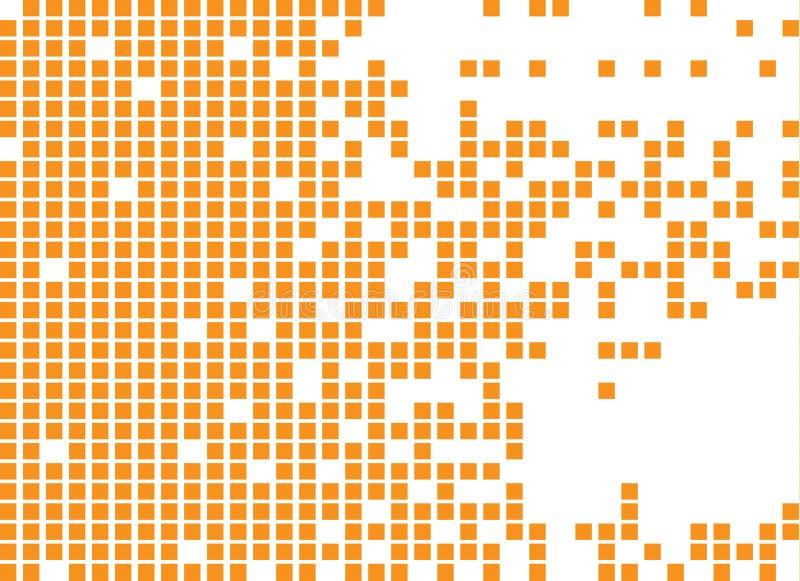 Opgelost gevuld vierkant gestippeld vectorpictogram stock illustratie