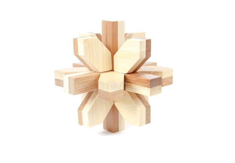 Opgelost houten raadsel royalty-vrije stock afbeeldingen