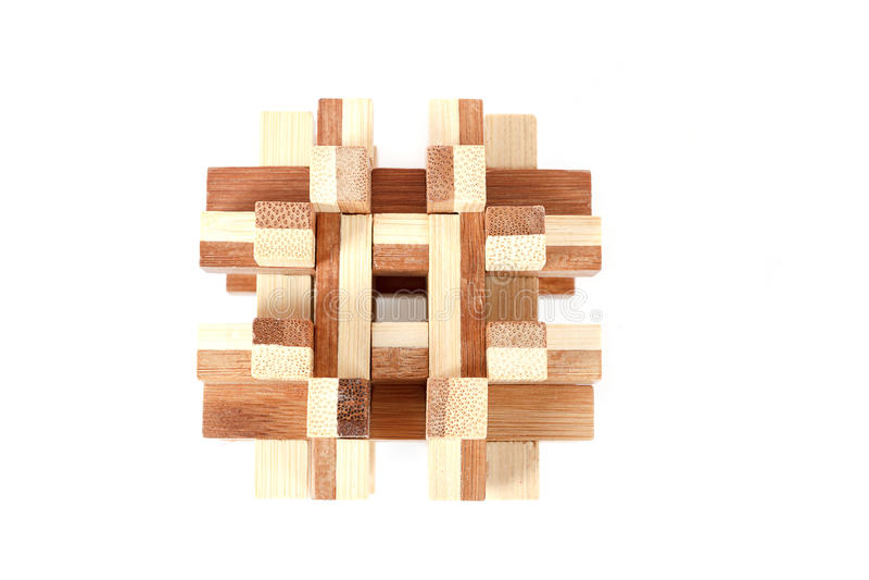 Opgelost houten raadsel royalty-vrije stock foto