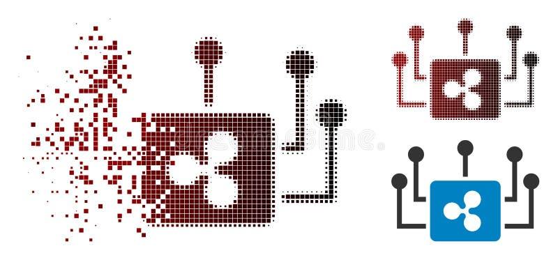 Opgelost van de Rimpelingsmasternode van Pixelated Halftone de Verbindingenpictogram stock illustratie