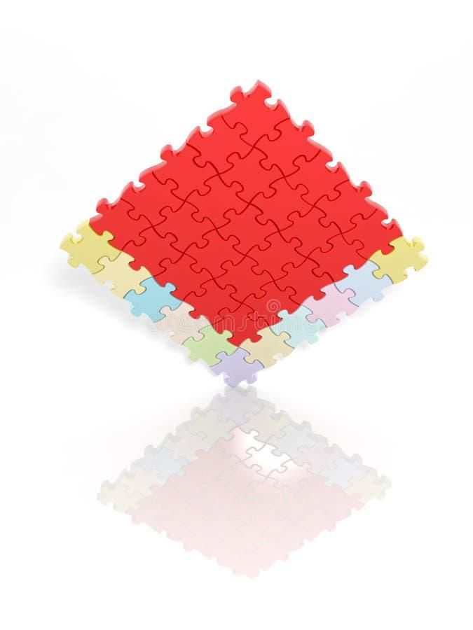 Opgeloste puzzel vector illustratie
