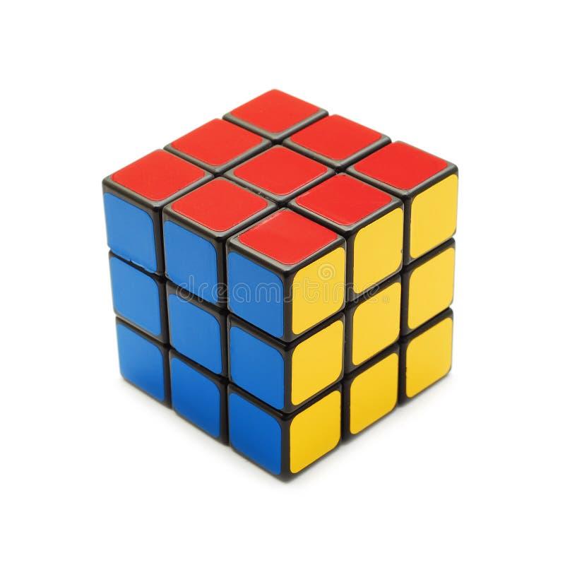 Opgeloste rubik kubus stock afbeelding