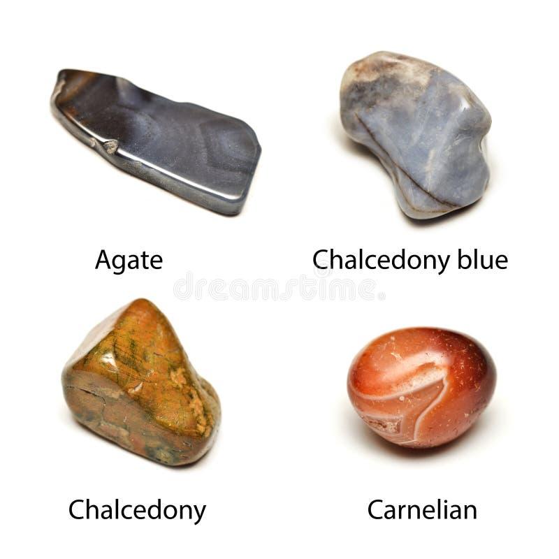 Opgepoetste mineralen stock afbeeldingen