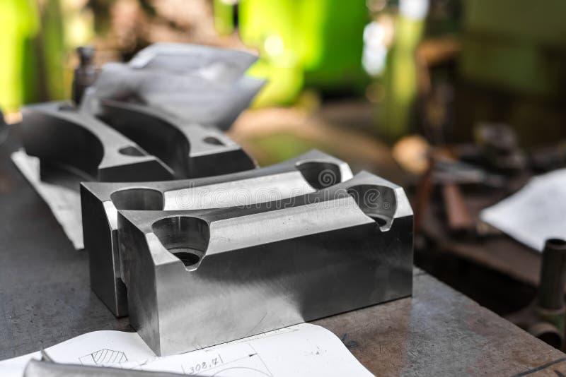 Opgepoetste staalproducten royalty-vrije stock foto's