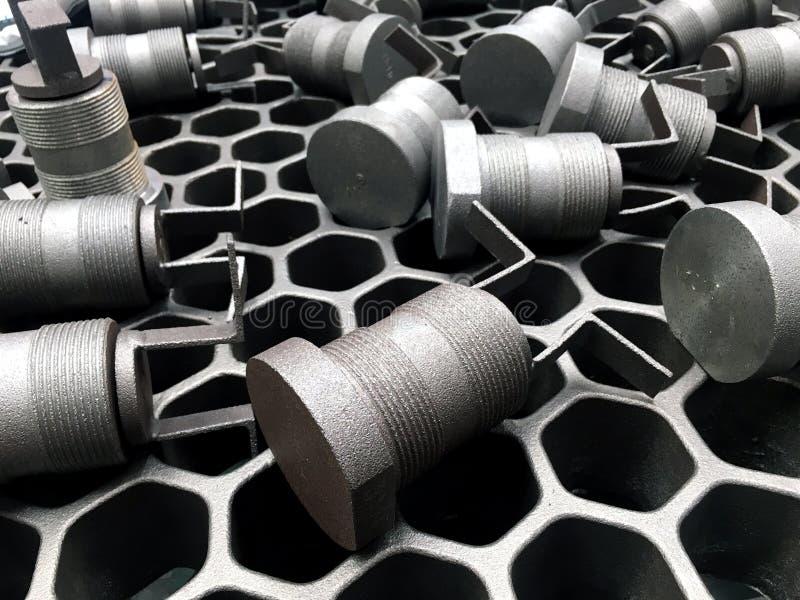 Opgepoetste staalproducten stock foto's