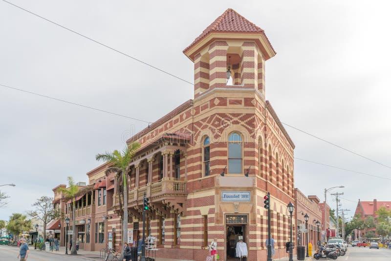 Opgerichte 1891 herinneringenwinkel in Key West stock fotografie